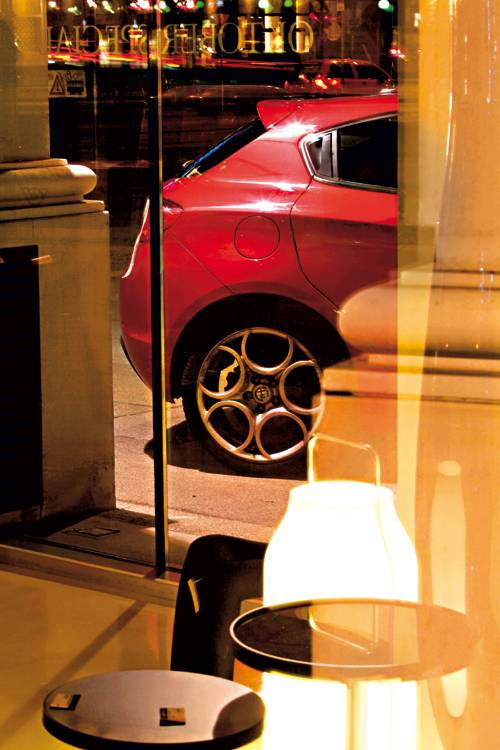 Alfa Romeo Giulietta tb multiair rot hinten felge detail