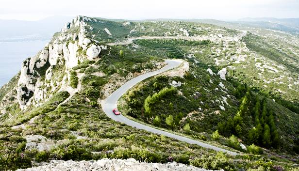 toyota gt86 gt 86 rot frankreich provence oben route de cretes