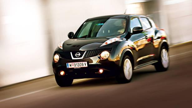 Nissan juke dig-t tekna schwarz front seite