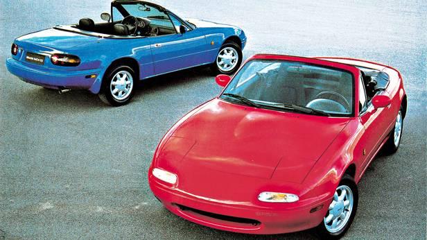 mazda mx5 serie 1 i rot blau