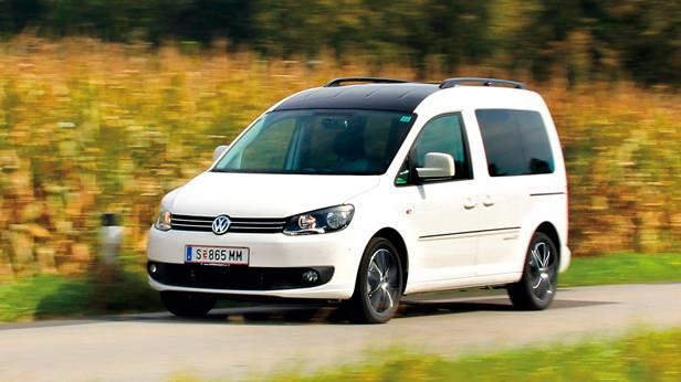 vw caddy tdi edition 30 weiß front vorne seite