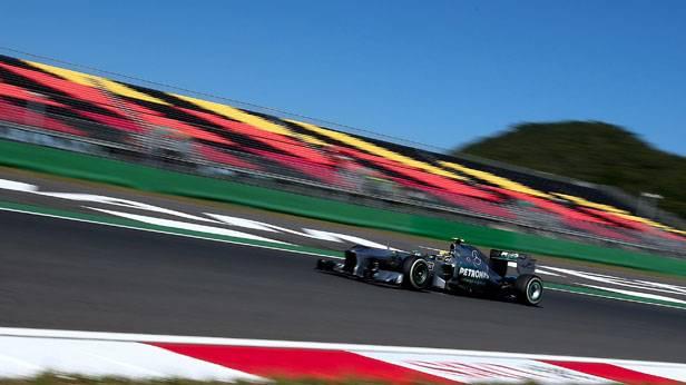 Lewis Hamilton beim Freien Training für den GP von Südkorea