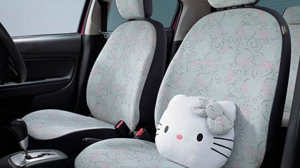 Der Innenraum des Mitsubishi Space Star Hello Kitty-Edition