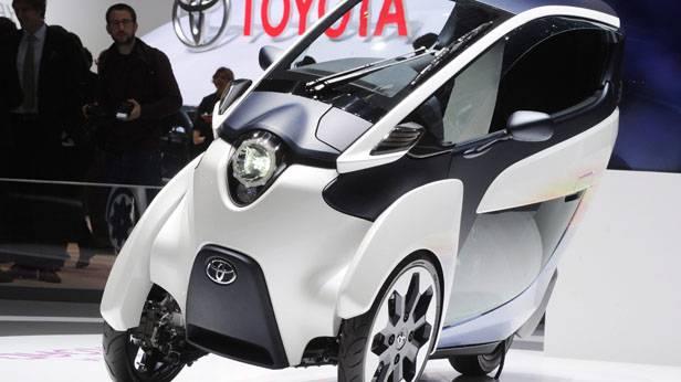 Der Toyota i-Road beim Genfer Auto-Salon