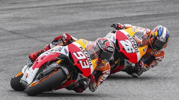 Marc Marquez vor Dani Pedrosa beim MotoGP Italien