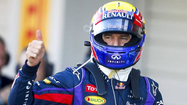 Mark Webber beim Grand Prix von Japan