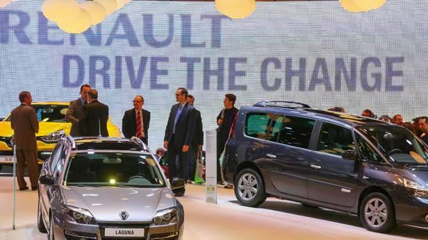 Der Renault Espace und Laguna bei der Autoshow in Brüssel 2013