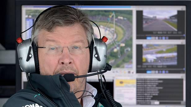 Der Mercedes-Teamchef Ross Brawn beim GP von Deutschland