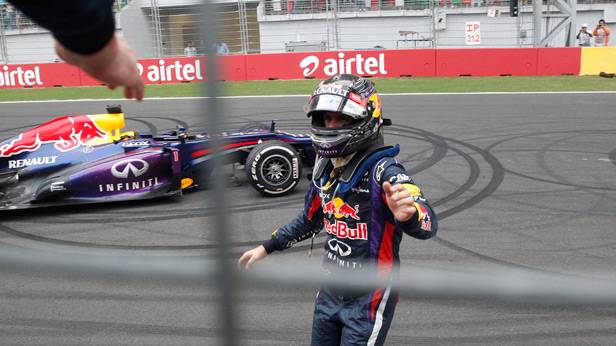 Sebastian Vettel nach dem GP Indien