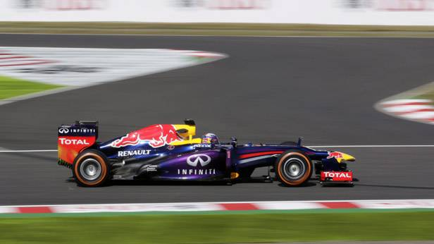Sebastian Vettel beim Training zum GP Japan