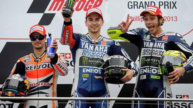 MotoGP-Siegerehrung in Australien