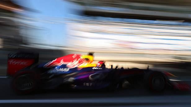 Sebastian Vettel im Rennauto in Südkorea