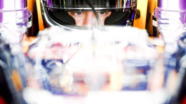 Sebastian Vettel im Rennauto