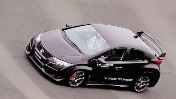 Der Honda Civic Type R 2015, von oben