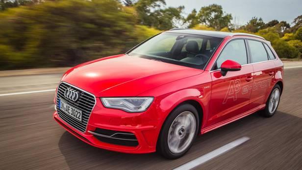 Der Audi A3 e-tron von vorne