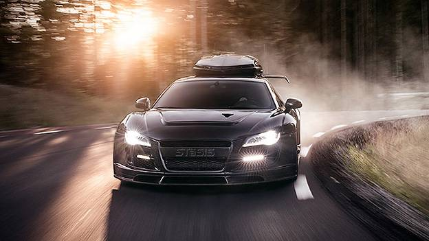 Audi R8 Lamborghini Gallardo Muarcielago Nissan GTR Dachbox Schibox Skibox Dachgepäckträger