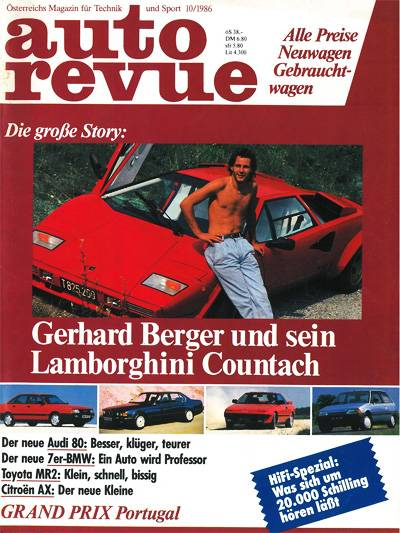 Lamborghini Countach Gerhard Berger