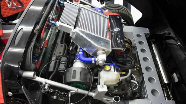 Der Motorraum des Kode 9