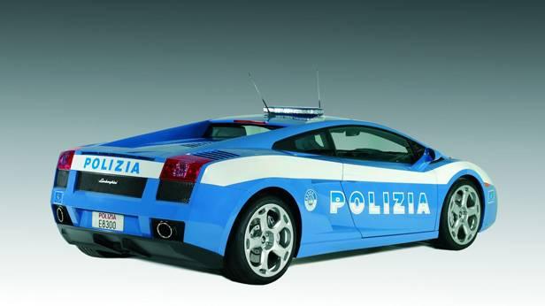 Der Lamborghini Gallardo als Polizeiauto