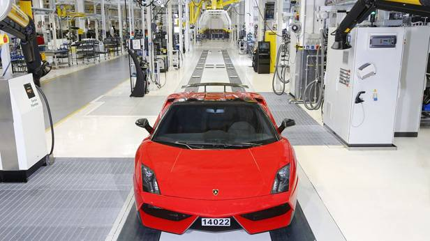Der letzte Der Lamborghini Gallardo läuft vom Band