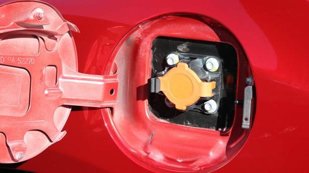 Tankdeckel eines Mazda 2