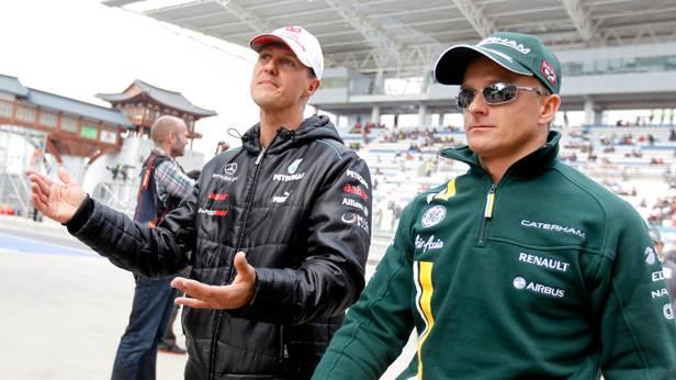 Michael Schumacher und Heikki Kovalainen beim GP von Süd Korea