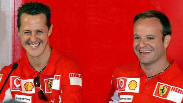 Michael Schumacher und Rubens Barrichello 2005 in Scarperia