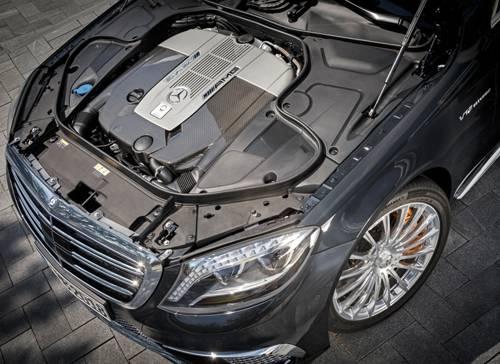 mercedes benz s 65 amg schwarz motor motorraum