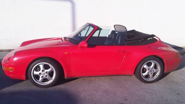 porsche 911 993 cabrio rot 1995 seite vorne