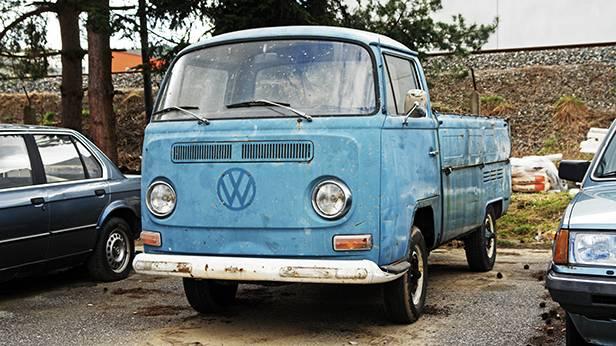 VW Volkswagen Bus T2 T2a Pritsche blau 1969 front seite vorne