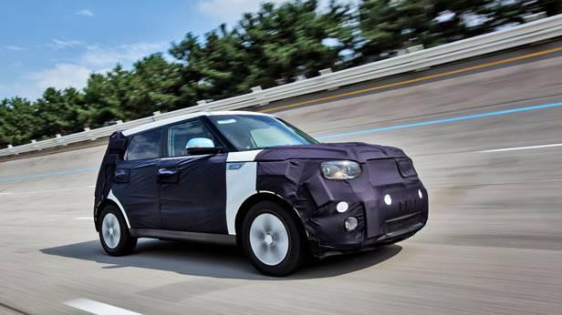 Kia Soul EV front vorne seite e-auto elektro