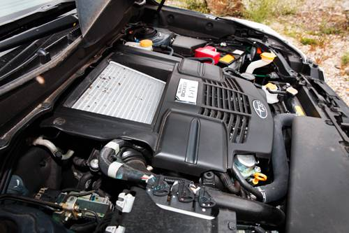 subaru forester xt cvt turbo 2013 grau motor motorraum