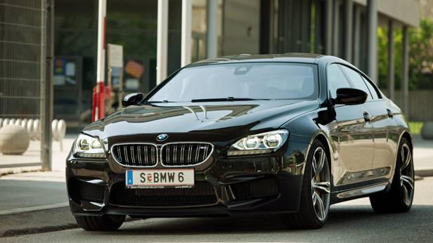 bmw m6 gran coupé schwarz front
