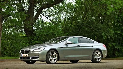 bmw 640d gran coupé grau seite vorne front