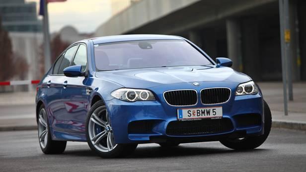 bmw m5 blau 2012 front vorne