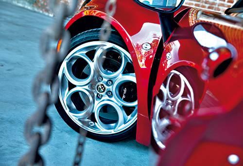 Alfa Romeo 4C 2014 rot felge rad