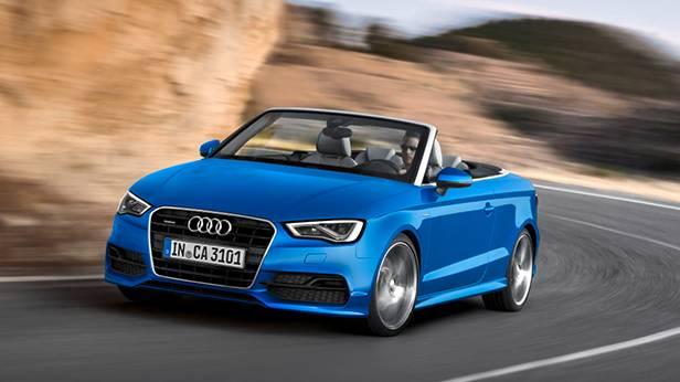 audi a3 cabrio 2014 blau front vorne
