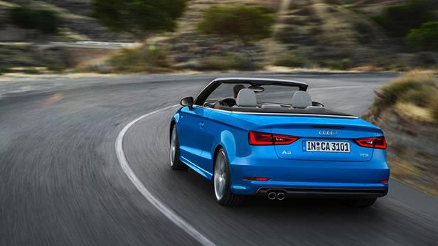 audi a3 cabrio 2014 blau hinten heck