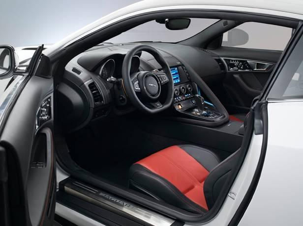 jaguar f-type coupé 2014 innen innenraum cockpit