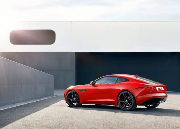 jaguar f-type coupé 2014 rot seite hinten