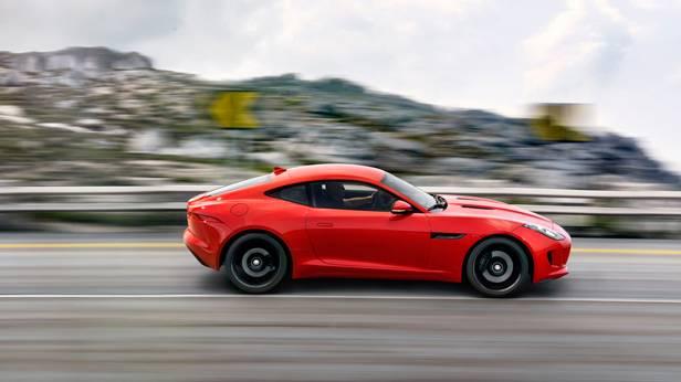 jaguar f-type coupé 2014 rot seite