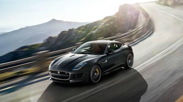 jaguar f-type coupé 2014 schwarz vorne seite