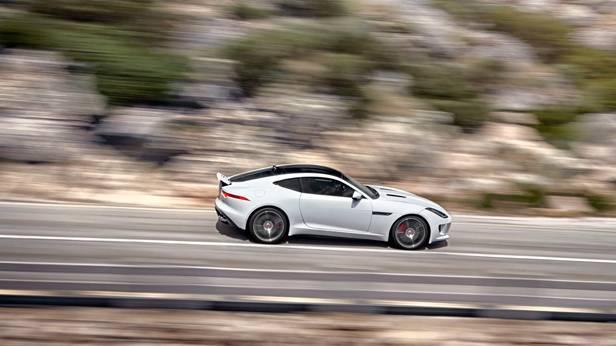 jaguar f-type coupé 2014 seite weiss