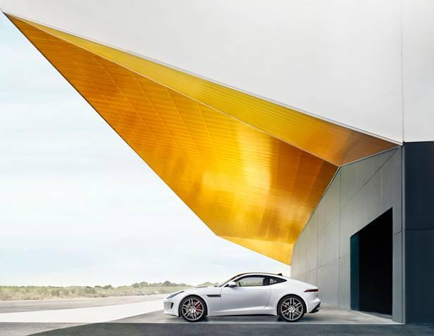jaguar f-type coupé 2014 weiss Seite