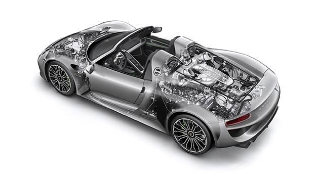 Porsche 918 Spyder hybrid technik durchsicht