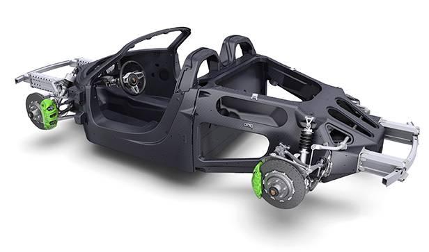 Porsche 918 Spyder hybrid monocque