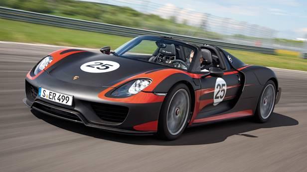 Porsche 918 Spyder hybrid fahrend