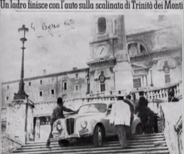 //// Lancia Aurelia auf berühmten Stufen