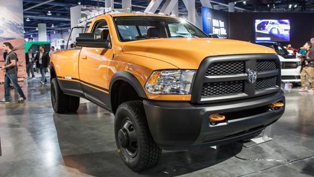 sema 2013 Ram Dually Case Work Truck
