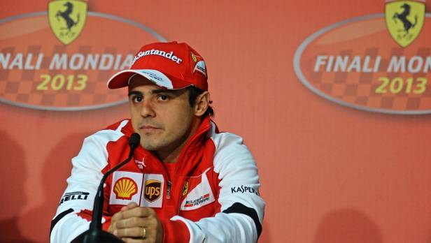 Felipe Massa startet noch zweimal für Ferrari, ab 2014 fährt der Brasilianer dann für Williams.